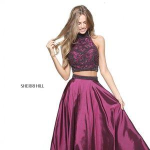 Authentic NEW Sherri Hill 51061 Plum Prom Gown